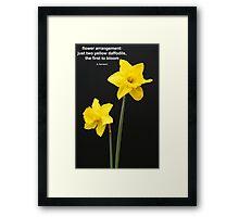Daffodils Quotation Framed Print