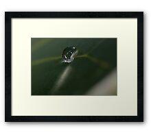 SPARKLING WATER DROPLET Framed Print