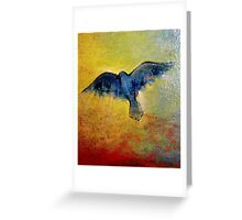 Blue Bird Lit From Within  Greeting Card