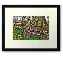 The Old Wagon Framed Print