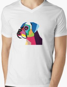 boxer  Mens V-Neck T-Shirt