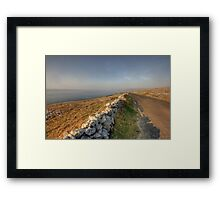 Fanore road Framed Print
