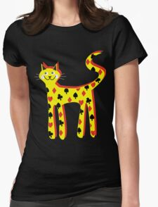 Cat cards Womens Fitted T-Shirt