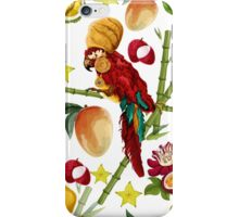Vector seamless pattern with tropical elements iPhone Case/Skin