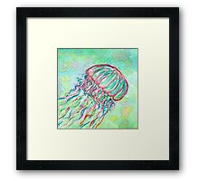Lonely Jellyfish Framed Print