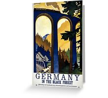 Germany In the Black Forest Vintage Poster Restored Greeting Card