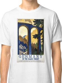 Germany In the Black Forest Vintage Poster Restored Classic T-Shirt