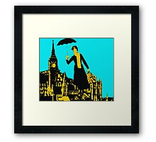 Mary in the city Framed Print