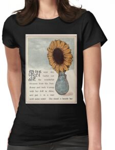 Gertie's Sunflower by George Lambert Mabel 1882 0023 Blossom in Vase Womens Fitted T-Shirt
