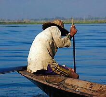 Fisherman Inle Lake (5) by Ian Douglas
