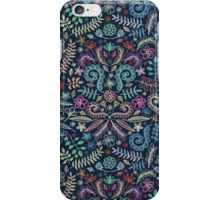 Colored Chalk Floral Doodle Pattern iPhone Case/Skin