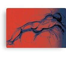 Sleeping Man Canvas Print
