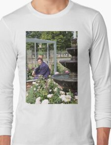 Monty Don At RHS Hampton Court Palace Flower Show 2015 Long Sleeve T-Shirt