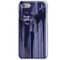 Night behind black curtain iPhone Case/Skin