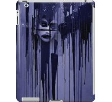 Night behind black curtain iPad Case/Skin