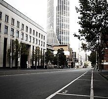 Deserted Melbourne CBD by Marcos Moraes
