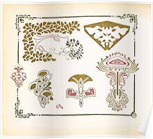 Maurice Verneuil Georges Auriol Alphonse Mucha Art Deco Nouveau Patterns Combinaisons Ornementalis 0050 Poster