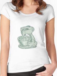 Kitchen Mixer Vintage Etching Women's Fitted Scoop T-Shirt
