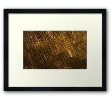 Golden Jewel Ribbons Framed Print