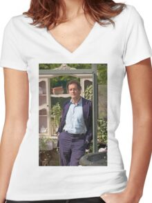 Monty Don At RHS Hampton Court Palace Flower Show 2015 Women's Fitted V-Neck T-Shirt