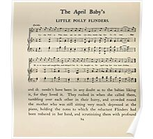 The April Baby's Book of Tunes by Elizabeth art Kate Greenaway 1900 0044 Little Polly Flinders Poster