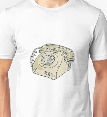 Telephone Vintage Etching Unisex T-Shirt