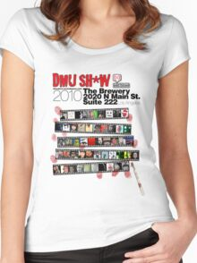 DMU SH*W 2010 (black text) Women's Fitted Scoop T-Shirt