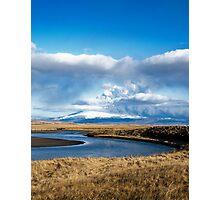 Eruption on Eyjafjalla Glacier #1 Photographic Print