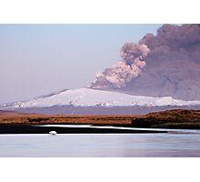 Eruption on Eyjafjalla Glacier #4 Photographic Print