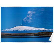 Eruption on Eyjafjalla Glacier #7 Poster