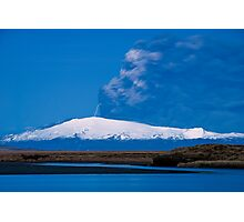 Eruption on Eyjafjalla Glacier #7 Photographic Print