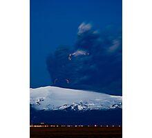 Eruption on Eyjafjalla Glacier #8 Photographic Print