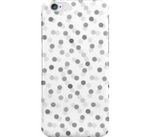 Vintage gray black trendy polka dots pattern iPhone Case/Skin