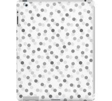 Vintage gray black trendy polka dots pattern iPad Case/Skin