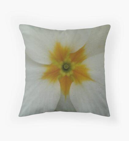White Primrose Throw Pillow