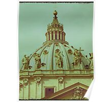 St Peters Basilica Dome  Poster