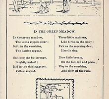 Miniature Under the Window Pictures & Rhymes for Children Kate Greenaway 1880 0043 In the Green Meadow by wetdryvac