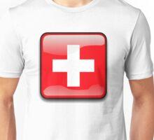 Switz Flag, Switzerland Icon Unisex T-Shirt