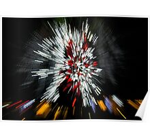 Abstract Christmas Lights - Color Streaks  Poster