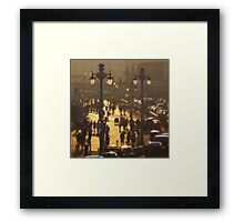 Brighton Evening Promenade Framed Print