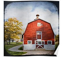 barn in RED Poster