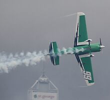 Michael Goulian At Perth Round of Red Bull Air Race 2010 by Stephen Horton