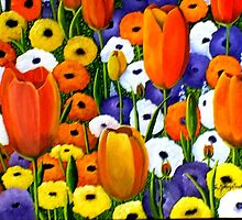 Spring Explosion  acrylic painting by sandysartstudio