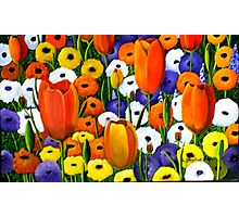 Spring Explosion  acrylic painting Photographic Print