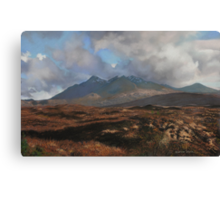 The Coullins Mountain Range, Isle of Skye Canvas Print
