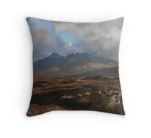 The Coullins Mountain Range, Isle of Skye Throw Pillow