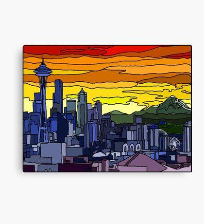 Seattle Pride Cityscape Canvas Print