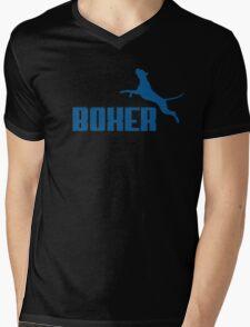 Boxer (blue) Mens V-Neck T-Shirt