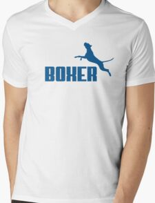 Boxer (blue) Mens V-Neck T-Shirt