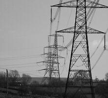 Countryside Pylons by rhian mountjoy
